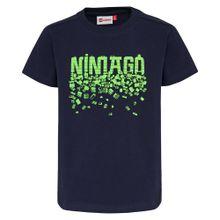 LEGO WEAR T-Shirt 'Ninjago' navy / neongrün