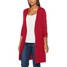 Brax Damen Strickjacke 37-5097, Rot (Cranberry 46), 40