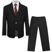 Kinderanzug (Kommunionsanzug) schwarz uni 5-tlg. Sakko+ Hose+ Weste+ Hemd+ Krawatte 12