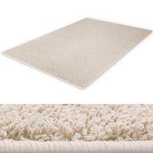 Shaggy Teppich | Hochflorteppich für ein behagliches Ambiente | extra flauschig und weich | Farbe Creme | Größe 133x190 cm