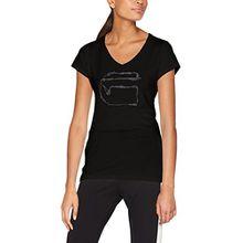 G-STAR RAW Damen T-Shirt Monthon Slim V T Wmn S/S, Schwarz (Dk Black 6484), X-Small