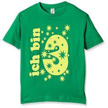 Coole-Fun-T-Shirts Jungen T-Shirt Ich Bin 3 Jahre!, Gr. One Size (Herstellergröße: 104cm/3 Jahre), Grün (Green-Gelb)