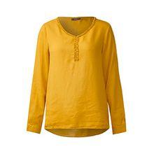 Cecil Damen Bluse mit Rüschenkragen Golden Lemonade XL