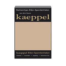 KAEPPEL Biber-Spannbettlaken sand 180-200X200 CM