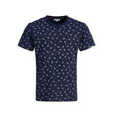 khujo T-Shirt RUGBY PAISLEY T-Shirts blau Herren