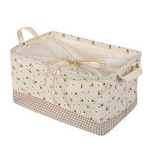 Aufbewahrung Korb Aufbewahrungskorb Aufbewahrungsbox Faltbar mit Deckel für Kleidung Handtüche Weiss