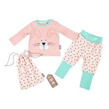 Sigikid Baby-Mädchen Zweiteiliger Schlafanzug Pyjama, Rosa (Blossom 647), 74