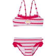 SCHIESSER Kinder Bikini rosa / neonpink / weiß