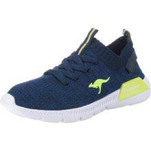 KangaROOS Sneaker 'K-Sock III' navy / limette