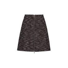 Rock aus Tweed mit Reißverschluss vorne