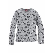 DISNEY Disney-Langarmshirt graumeliert / schwarz
