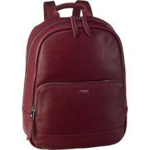 Knomo Laptoprucksack Mayfair Luxe Mini Mount 10'' RFID Burgundy (5.5 Liter)