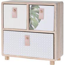 Mini-Kommode mit 3 Schubladen 23x25 cm weiß