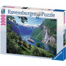 Puzzle 1000 Teile, 70x50 cm, Norwegischer Fjord