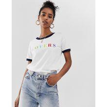 Noisy May - Dreamer - Ringer-T-Shirt - Weiß