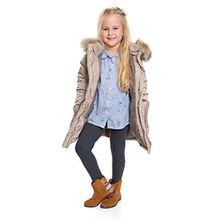 Hi! Mom WINTER KINDER LEGGINGS volle Länge Baumwolle Kinder Hose Thermische Material jedes Alter child28 - Graphit, EU 128-134