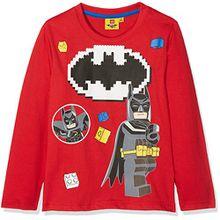 Lego Batman Jungen T-Shirt 161389, Rot, 8 Jahre (Hersteller Größe: 8 Jahres)