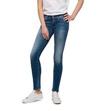 Replay Damen Skinny Jeans Luz Coin Zip, Blau (Denim 9), W27/L32