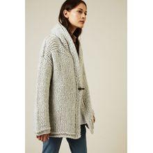 Iris von Arnim Handstrick Cashmere-Seide-Cardigan 'Greenland' Silber - Cashmere