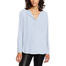 SELECTED FEMME Damen Bluse Sfdynella LS Shirt Noos, Blau (Skyway), 40
