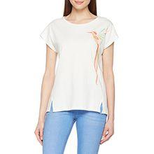 ESPRIT Damen T-Shirt 038EE1K010, Weiß (Off White 110), Medium