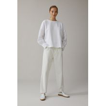 CLOSED Fabric Mix Sweatshirt white