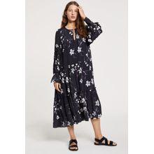 CLOSED Kleid aus Viskose & Seide black