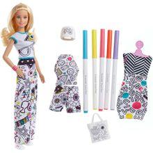 Barbie loves Crayola Farbspaß-Moden Puppe