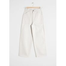 Workwear Culotte Trousers - Beige
