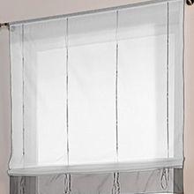Souarts Grau Gardine Raffgardinen Vorhang Raffrollo Schlaufenschal Deko für Wohnzimmer Schlafzimmer Studierzimmer 140*155cm
