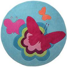 ESPRIT Kinderteppich Butterflies blau