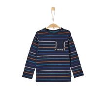 S.Oliver Junior Longsleeve nachtblau / grau / orange