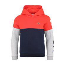 LACOSTE Sweatshirt marine / graumeliert / orangerot