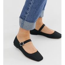 ASOS DESIGN - Links - Mary Jane-Ballerinas in Schwarz - Schwarz