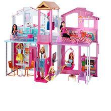 MATTEL DLY32 Barbie 3 Etagen Stadthaus + GRATIS MATTEL DTD98-GRATIS Barbie Fashionistas Style Puppe und Moden Peace & Love