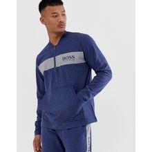 BOSS Bodywear - Contemporary - Marineblaue Jacke mit 1/2-Reißverschluss und Logo - Navy