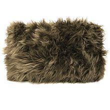 Kissen Furry Braun Fell Weich Flauschig Imitat1 Stück ca 50 x 30 cm inkl füllung Kissenbezug