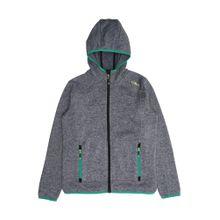 CMP Sportjacke graumeliert / grün