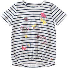 TOM TAILOR T-Shirt dunkelblau / gelb / pink / weiß