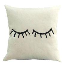 Sleeping Wimper Kissen, H. Eternal Home Dekoration Sofa Taille Überwurf Kissen Fall Baumwolle Leinen Kissenbezug 45,7x 45,7cm B_#02