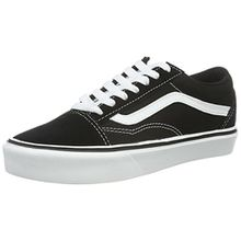 Vans Old Skool Lite Plus, Unisex-Erwachsene Sneakers, Schwarz (Suede/Canvas/Black/White), 44.5 EU