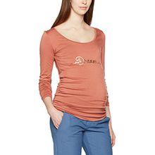MAMALICIOUS Damen Langarmshirt Mlsylvester L/S Jersey Top, Rosa (Cedar Wood Print:Gold Foil), 42 (Herstellergröße: XL)