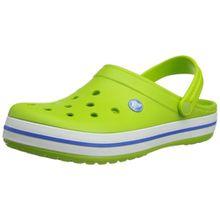 crocs Crocband, Unisex - Erwachsene Clogs, Grün (Volt Green-Varsity Blue), 45/46 EU