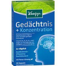 Kneipp Gesundheit Nahrungsergänzung Gedächtnis + Konzentration 1 Stk.