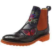 Melvin & Hamilton Damen Amelie 44 Chelsea Boots, Blau (Crust Navy + Embr, Elast. Orange, Rook D Orange), 36 EU