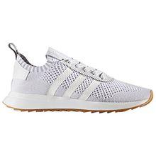 adidas Primeknit Flashback FLB Weiß und Grün, Laufschuhe für Damen, Sneaker, Traines. (37 EU, White/Clear Grey)