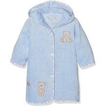 Vossen Unisex Baby Bademantel Teddy, Blau (Blue 410), One Size