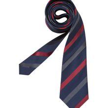 SEIDENSTICKER Krawatte 'Schwarze Rose' dunkelblau / rot