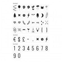 Zusatz-Set für Dekoleuchte Lightbox Numbers & Symbols