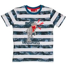 SALT AND PEPPER Jungen T-Shirt Giants Stripe, Blau (Middle Blue 432), 104 (Herstellergröße: 104/110)